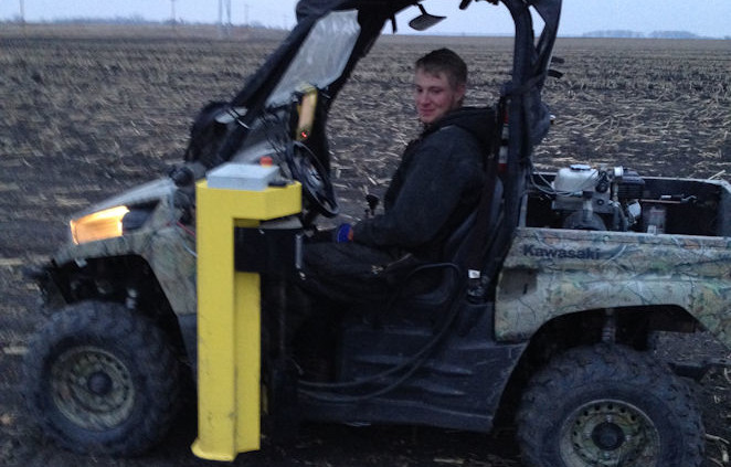 Mike soil sampling