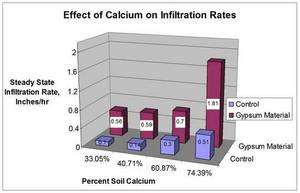 Infiltration Effects of Calcium